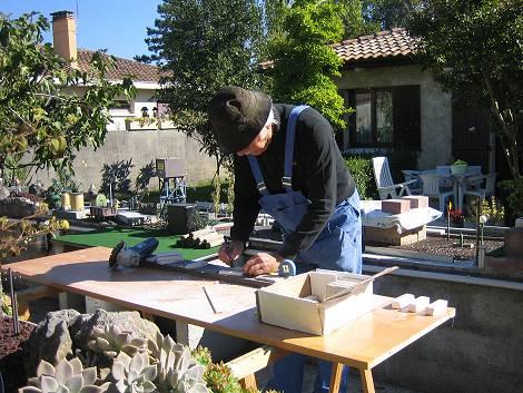 Construction for Table exterieur siporex